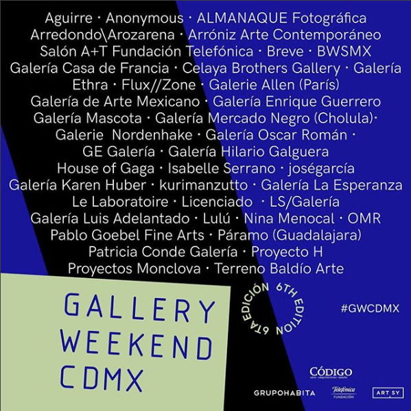 Gallery Weekend Mexico 2018